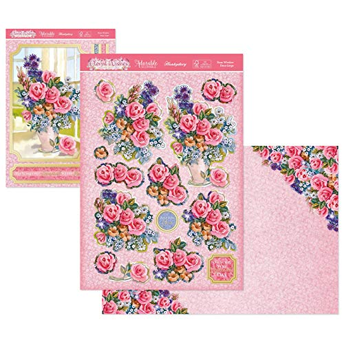 Hunkydory - Floral Wishes - Deco-Large - Rose Window - Deco-Large Set Card Kit