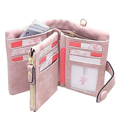 Ladies Wallet RFID Blocking Women Leather Wristlet Clutch Card Coin Purse Bifold