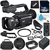 Sony PXW-Z90V 4K HDR XDCAM with Fast Hybrid AF + 32GB SDHC Class 10 Memory Card + 62mm UV Filter + Carrying Case + Microfiber Cleaning Cloth + Deluxe Cleaning Kit Bundle