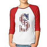 Kim Lennon Seattle Mariner S Logo Women's 3/4 Sleeve Raglan Tshirt Red