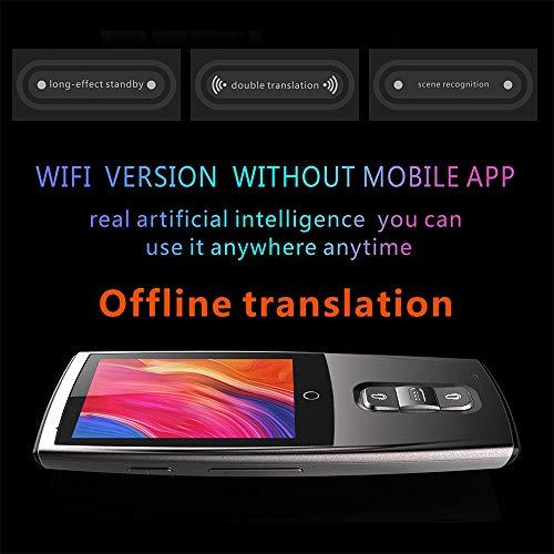 Ecurson 2.4'' Smart Instant Smart Voice Translator Real Time WiFi 43 Languages Speech Translation Machine (Black) by Ecurson (Image #4)