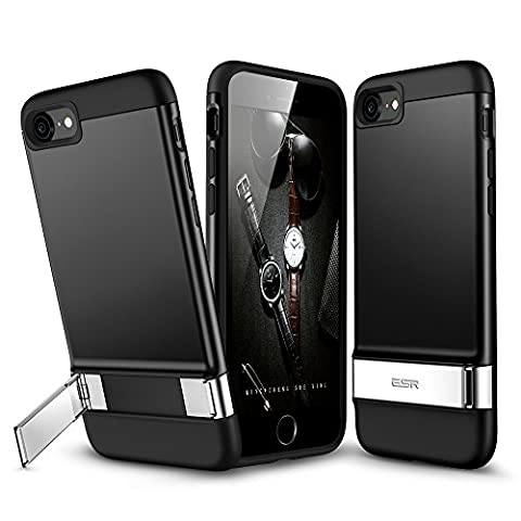 iPhone 7 Case, iPhone 7 Metal Kickstand Case, ESR [Vertical and Horizontal stand] and [Magnetic Car-Mount Function] Hard PC Back + Flexible Bumper Protective Cover for 4.7 inches iPhone 7 - Iphone Vertical Case
