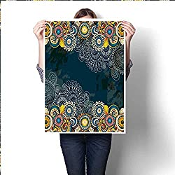 "Abstract Floral Decorative Background Template Frame Design for Card with Place for Your Text Rasterized Version Canvas tarpscanvas Art suppliesNo frame20""x28"" (50cm x 70cm)"