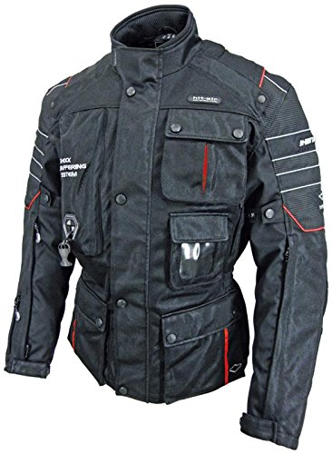Hit Air Motorrad-2 - Chamarra de malla con bolsa de aire (color negro), Negro, 2XL