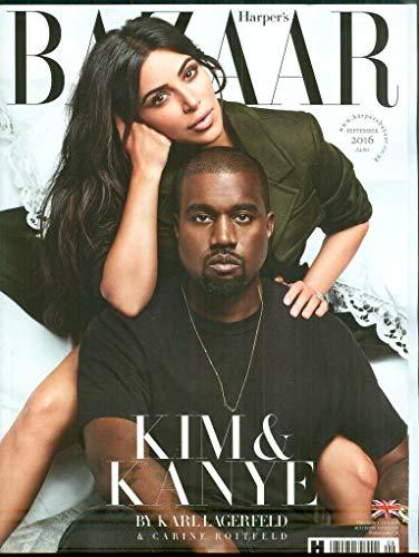 HARPER'S BAZAAR MAGAZINE UK SEPTEMBER 2016, Kim Kardashian And Kanye West - Covers Bazaar Magazine