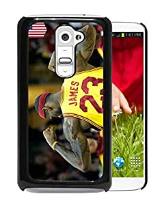 Fashionable And Unique Designed Cover Case With lebron james 2 Black For LG G2 Phone Case