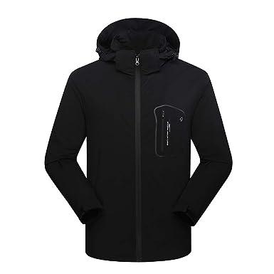45e2fb8416c LisYOU F Jackets Men Outdoor Sports Hooded Waterproof Windbreak Rain Coat  Ski Mountain Climbing(Large