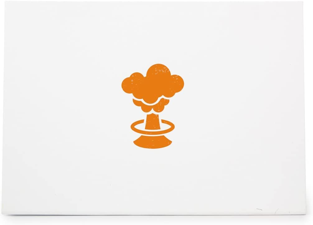 Card Making Rubber Stamp Shape great for Scrapbooking Mushroom Cloud Atomic Bomb Explode Style 13950 Crafts Ink Stamping Crafts