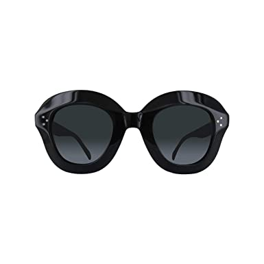 b3fd022150fa7 Image Unavailable. Image not available for. Color  Celine CL41445 S 807 Black  Lola Round Sunglasses ...