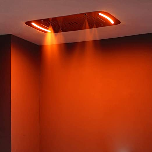 LIUFENG Lluvia Columna Ducha LED Control de Pantalla Táctil ...