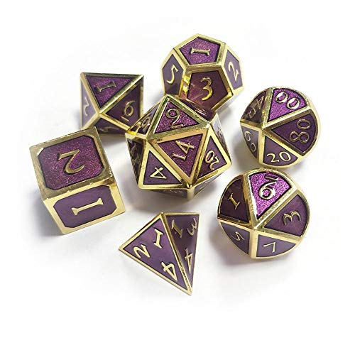 Yunhigh Polyhedral Dice Set D&D Metal Dices Set Enamel Dungeons and Dragons Role Playing Games Pathfinder DND RPG MTG Table Games