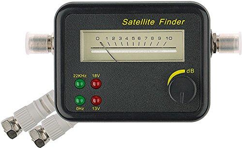 DUR-line® SF 2400 - Satfinder - Messgerät zur exakten Justierung Ihrer Digitalen Satelliten-Antenne - mit hoher Eingangsempfindlichkeit - inkl. F-Kabel und ausführlicher deutscher Anleitung