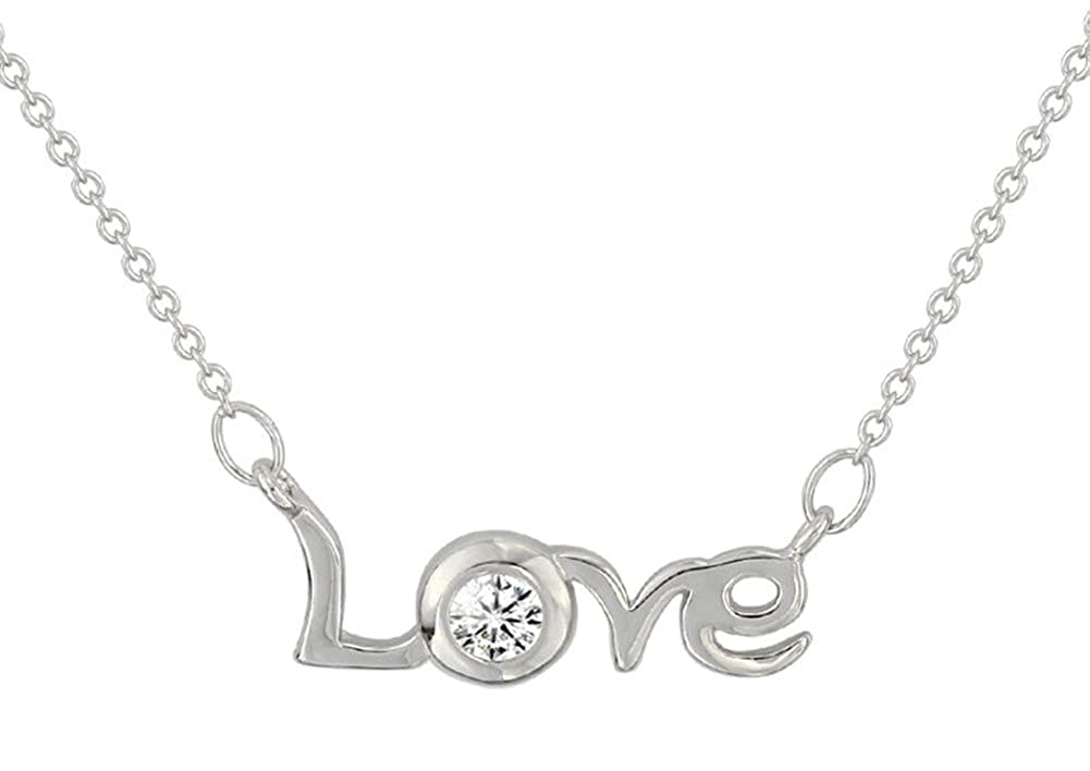 Richy-Glory 925 Sterling Silver LOVE ladies necklace