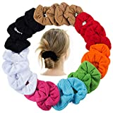 Pony Holders - Scrunchies For Hair - Scrunchy Hair Ties Bulk by CoverYourHair (Ribbed 24 Pack)