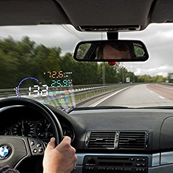 Blesys 5 5 Inches Multi Color Car Hud Head Up Display Amazon Co