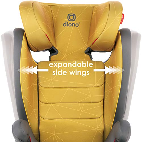 51bK6nOy1iL - Diono Monterey XT Latch, 2-in-1 Belt Positioning Booster Seat With Expandable Height/Width, Blue