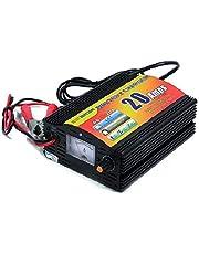 شاحن بطارية السيارة 20 أمبير 12 فولت اتوماتيك 3 مراحل مع تحكم ومبين للتيار تونجر الكتروني