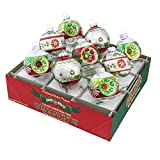 Shiny Brite Holiday Splendor Decorated Rounds with Reflectors - Set of Nine
