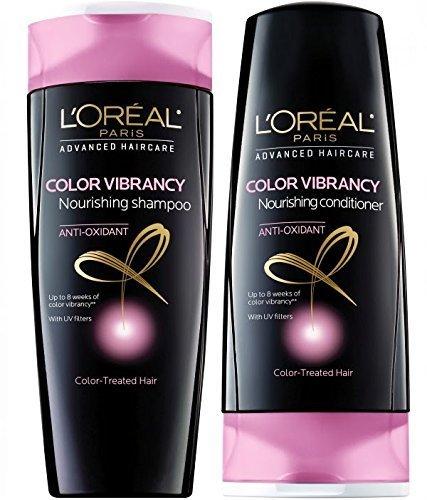 Color Loreal Shampoo (L'oreal Haircare Color Vibrancy Shampoo & Conditioner, 12.6 Fl. Oz)