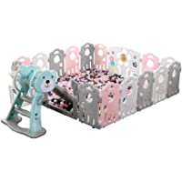 Children's Play Fence Safety Fence Home Indoor Crawling Bar Toy Enclosure College Fence With Slide (Size : 12 pieces (1.18x1.55 meters))
