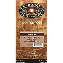 Baronet Coffee Single Espresso Dark ESE Pods, 54 Count