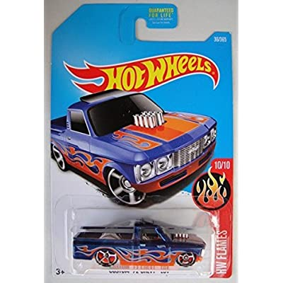Hot Wheels 2020 HW Flames Custom '72 Chevy Luv 36/365, Blue: Toys & Games