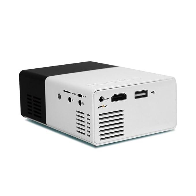 hcfkj yg300 Mini Proyector de cine en casa DVD proyector de cine ...