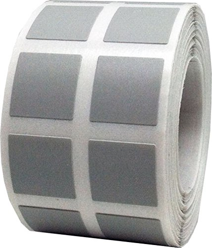 """Free Half Inch 1/2"""" Square Grey Color Coding Labels - 1,000 Total Inventory Stickers"""