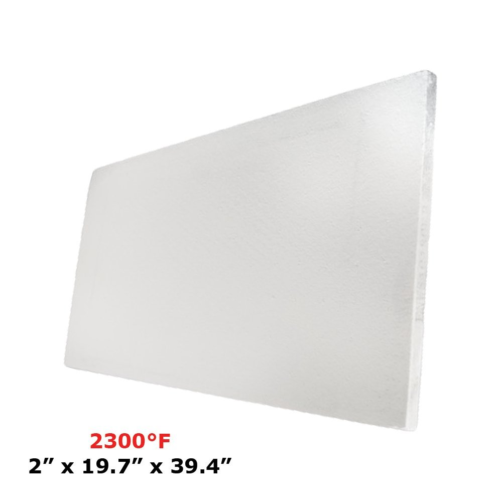 Thermal Insulation Board (2300F) (2'' X 19.7'' X 39.4'') for Wood Ovens, Stoves, Forges, Kilns, Furnaces