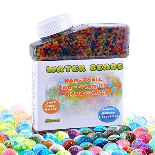 Water Beads for Kids-Rainbow Mix 8.8oz (about 40,000 beads) - Vase Filler,Plants Decoration and Sensory Water Toys