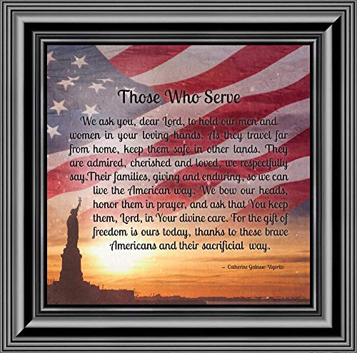 Elegantly Yours Those Who Serve, Military Picture Frame, Gifts for Soldier,10x10 8653B
