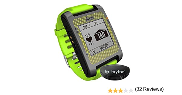Bryton Amis S630H - Reloj GPS Multideporte con Sensor cardíaco Ant+, Color Verde
