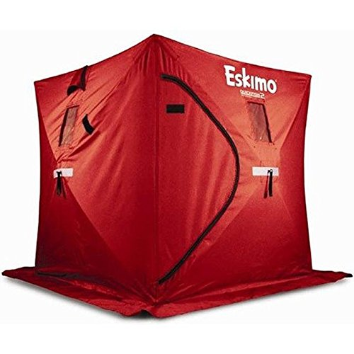 Eskimo Quickfish 69143 3 Pop-Up Portable Ice Shelter, 3 Person