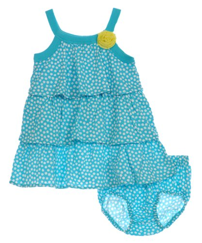 Carter's Sleeveless Three Tiered Dress with Diaper Cover