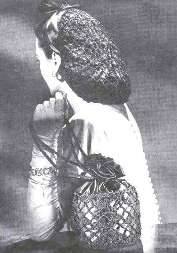 Lacy Snood Handbag Crochet Hair Net Purse Bag Pattern Kindle