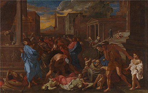 Oil Painting 'Angelo Caroselli - The Plague At Ashdod (after Poussin),1631' 12 x 19 inch / 30 x 49 cm , on High Definition HD canvas prints is for Gifts - A Touch Romance Of Coupon