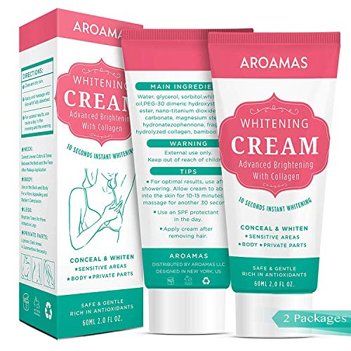 Underarm Whitening Cream,Lightening Cream Effective for Armpit, Knees, Elbows, Sensitive & Private Areas, Whitens, Nourishes, Repairs & Restores Skin(2 pack)