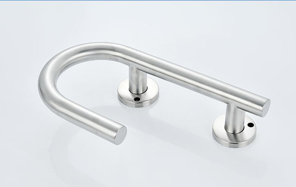 DFHHG® Corrimano bagno, bagno Sicuro antiscivolo Bracciolo in acciaio inox 25x17cm Stabile e forte