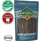 "5"" Junior Beef Gullet Bully Sticks for Dogs & Puppies (20 Ct) Natural Odorless Jr. Esophagus Treat 