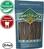 5″ Junior Beef Gullet Bully Sticks for Dogs & Puppies (20 Ct) Natural Odorless Jr. Esophagus Treat | Joint Health & Cleans Teeth | Free-Range Grass-Fed Cattle | Mini Thin Bladder Jerky Chew Steer Stix