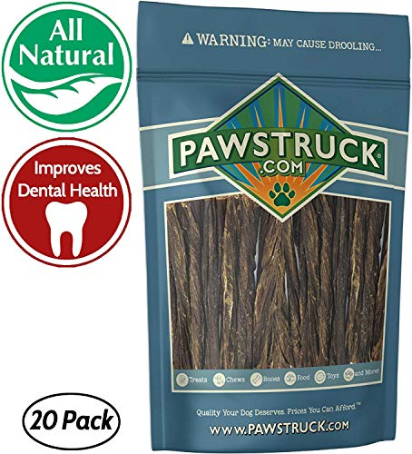 Cheap 5″ Junior Beef Gullet Bully Sticks for Dogs & Puppies (20 Ct) Natural Odorless Jr. Esophagus Treat | Joint Health & Cleans Teeth | Free-Range Grass-Fed Cattle | Mini Thin Bladder Jerky Chew Steer Stix
