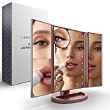 Makeup Vanity Mirror with Lights – By LAUREL + HOLLAND, Rose Gold LED Large Lighted 10x/3x/2x Magnification, Trifold Design Vanity Mirror for Perfect Hair and Makeup with Adjustable Lighting Review