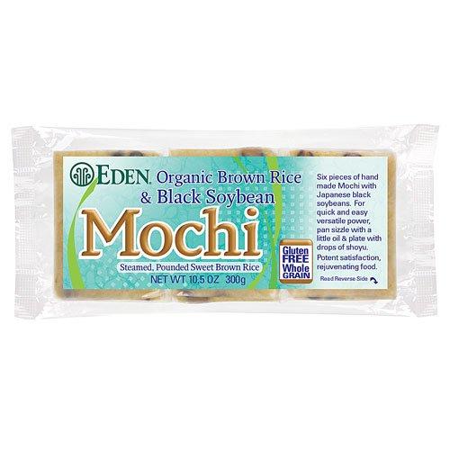 Eden Brown Rice & Black Soybean Mochi, Organic