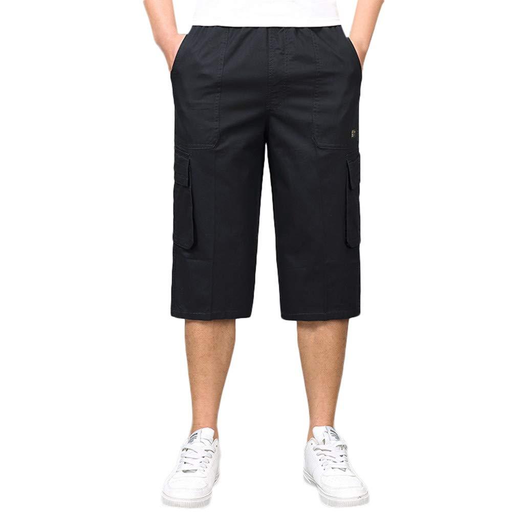 Pantalones Cortos Hombre Shorts De Carga con CordóN Incorporados Y ...