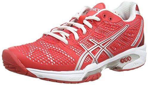 Femme Rouge Speed solution 2393 De 2 white Asics Chaussures Gel hibiscus Tennis silver 6wq068xH