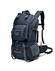 Mountaintop 40L Water-resistant Hiking Daypack/Camping Backpck/Travel Daypack/Casual Backpack with Rain Cover for Outdoor Climbing School-5812II