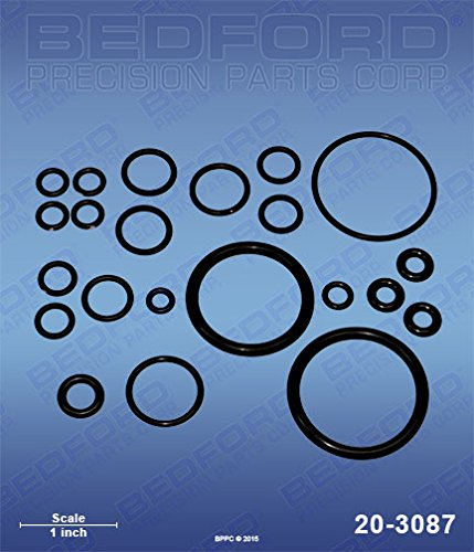 GRACO GC1-937 Bedford 20-3087 Kit - Probler P2 Gun, in.Standard in. O-Ring Kit