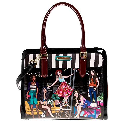 Nicole Lee Stylish Printed Women's Briefcase Spacious Satchel Bag Shoulder Bag, house Party (Nicole Lee Handbags And Purses)