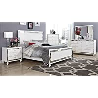 Ashland Queen 5 Piece Bedroom Set with Chest in Brilliant White