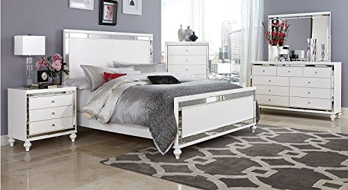 Ashland Eastern King 5 Piece Bedroom Set in Brilliant White